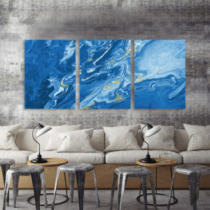 Set 3 tablouri - Blue Marble