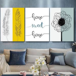 Set 3 Tablouri - Home sweet Home