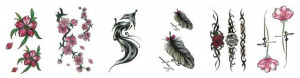 Set 6 tatuaje temporare -love forever- 9x5cm