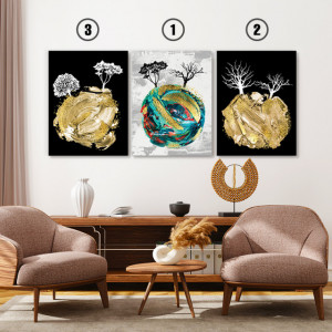 Set tablouri canvas - Imaginary planet