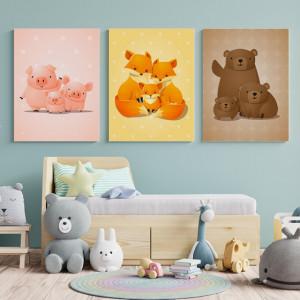 Set Tablouri Copii - Animal family