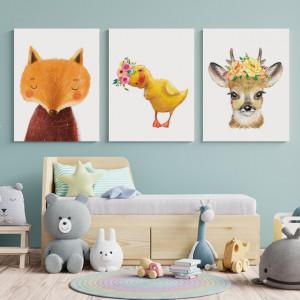 Set Tablouri Copii - Animalute pictate