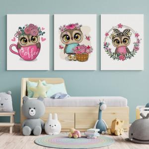 Set Tablouri Copii - Bufnite
