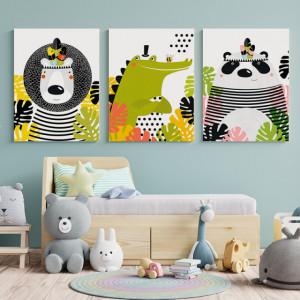 Set Tablouri Copii - Funky animals