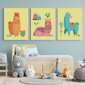 Set Tablouri Copii - Llama