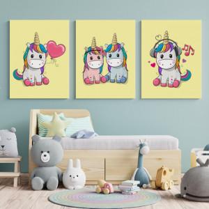 Set Tablouri Copii - Unicorni