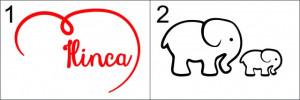 Sticker cu nume - Ilinca