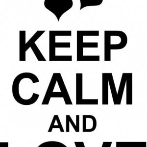 Sticker De Perere Keep Calm And Love