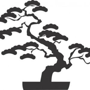 Sticker De Perete Bonsai