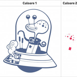 Sticker De Perete Extraterestru (In Doua Culori)