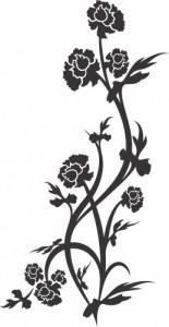 Sticker De Perete Floare Inalta