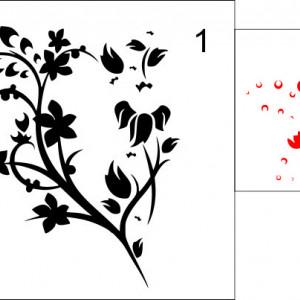 Sticker De Perete Floare Pe Perete