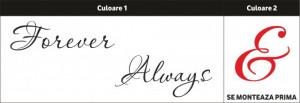 Sticker De Perete Forever & Always