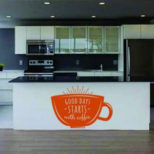 Sticker De Perete Good Days Start With Coffee