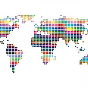 Sticker De Perete Harta Din Paleta Culorilor