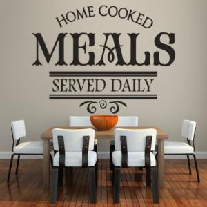 Sticker de Perete Home Cooked Meals