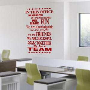 Sticker De Perete In Acest Birou...