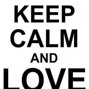 Sticker De Perete Keep Calm And Love Dogs