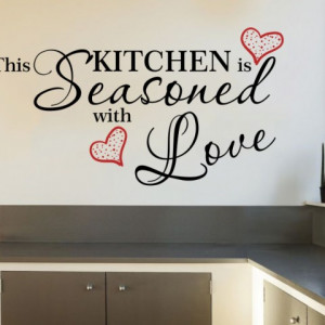 Sticker de Perete Kitchen Seasoned with Love