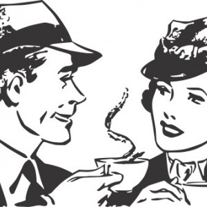 Sticker De Perete La O Ceasca De Cafea