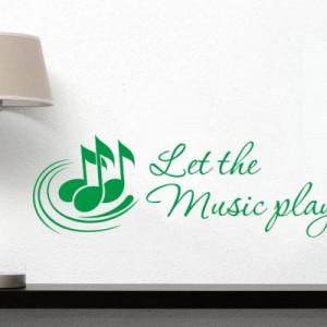 Sticker De Perete Let The Music Play