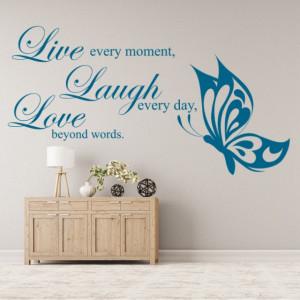 Sticker De Perete Live Laugh Love