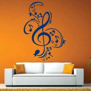 Sticker De Perete Muzical Cheia Sol