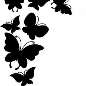 Sticker De Perete Stol De Fluturi