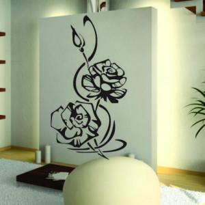 Sticker De Perete Trandafiri Decorativi