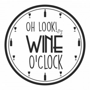 Sticker de Perete Wine O'Clock