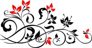 Sticker Decorativ Floare De Perete 2