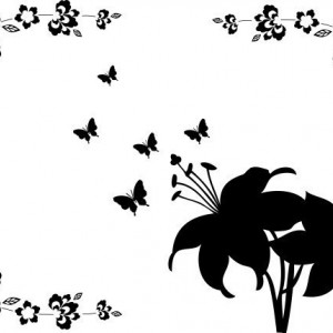 Sticker laptop - crini si fluturi