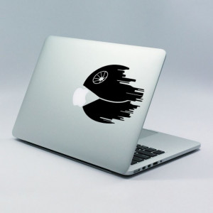 Sticker laptop - Death Star PacMan