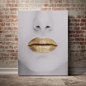 Tablou Canvas Buze De Aur