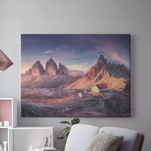 Tablou Canvas Casuta in munti