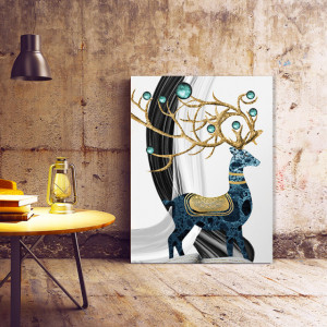 Tablou Canvas Deer with Golden Horns