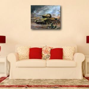 Tablou canvas efect painting - tanc 01