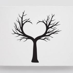 Tablou Canvas Finger Print Tree Inima