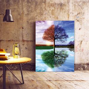 Tablou Canvas Four Seasons in one Reflection - OFERTA SPECIALA 90x120CM