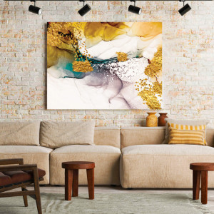 Tablou Canvas Golden abstract fantasy