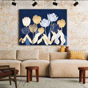 Tablou Canvas Golden Tulips