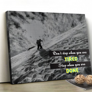 Tablou canvas motivational - Don't stop