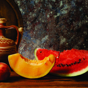 Tablou canvas - pepene galben si rosu