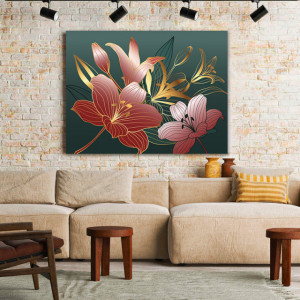 Tablou Canvas Royal Pink Lilies