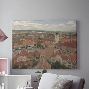 Tablou Canvas Sibiu vazut de sus