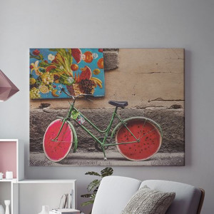 Tablou Canvas Watermelon bike