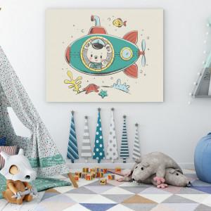 Tablou copii - Ursulet in Submarin