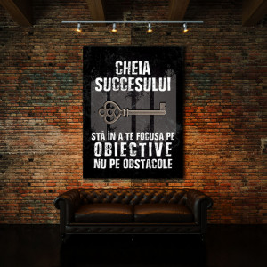 Tablou motivational - Cheia succesului (old grunge)