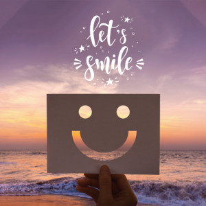Tablou motivational - Let's smile!