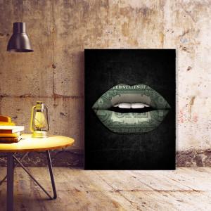 Tablou motivational - Money lips